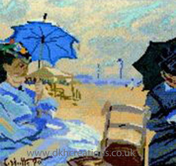 Monet The Beach At Trouville Cross Stitch Kit